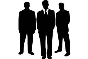Decorative Image - Silhouette of three business men.