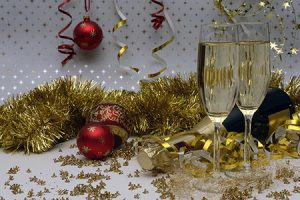Decorative Image - Champagne glasses in a decorative background