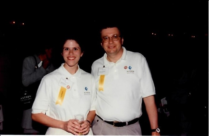 Photo of National Directors Jennifer Loftus and Mike Maciekowich in 1999