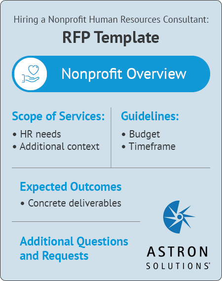 Refer to this RFP template when requesting proposals from nonprofit HR consultants.