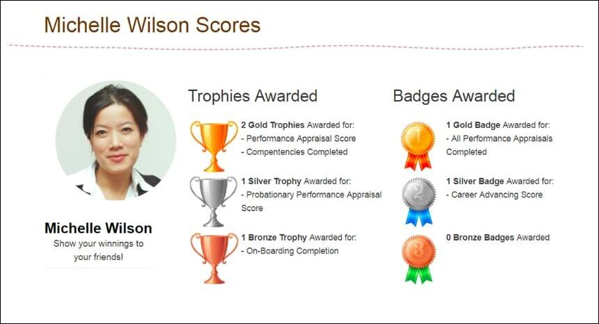 Gamification tools are a great additional feature to look for in talent management software.