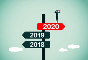 Decorative Image - Road signs for years 2018, 2019 and 2020