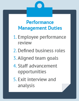 Here is what you should know about performance management duties.
