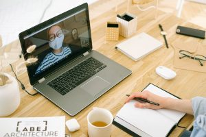 Decorative Image: Remote Work with a laptop