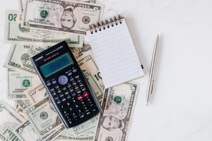 Decorative Image: Photo of a calculator and money